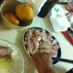 אנדרי מכין את הסביצ'ה - מעדן!
